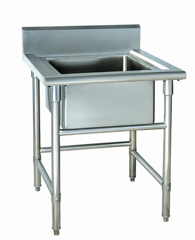 The Sinku0026basin Is Made Of Stainless Steel, Single Bowl Sinks And Half  Worktable.