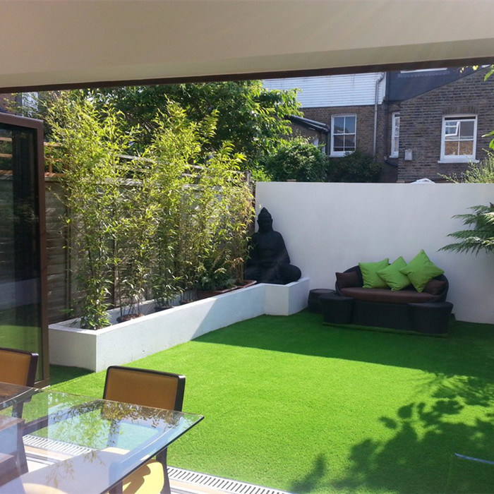 15mm Height 15750 Density Leo85 Landscape Artificial Grass Synthetic Turf