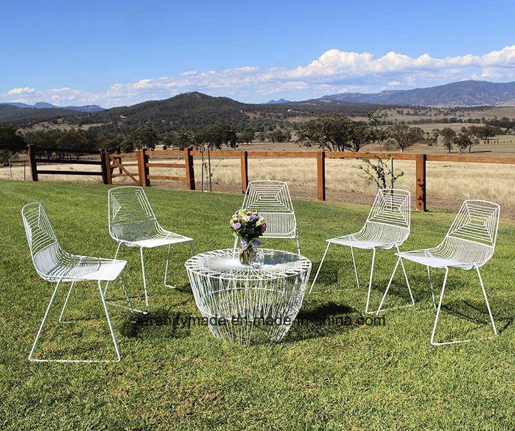 Alambre de acero muebles evento ronda moderna mesa de café – Alambre ...