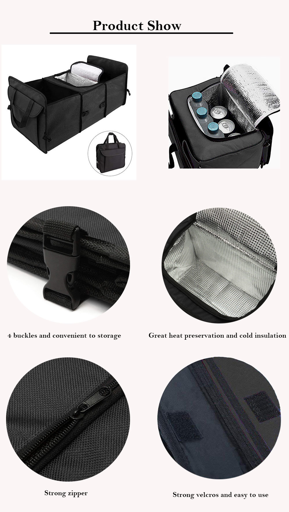 Car Interior Accessory Trunk Organizer With Cooler China Foldable Bag J And K Auto Limited Was Found In 2009 Ningboaiming To Provide Medium Small Clients More Efficient Quality Services