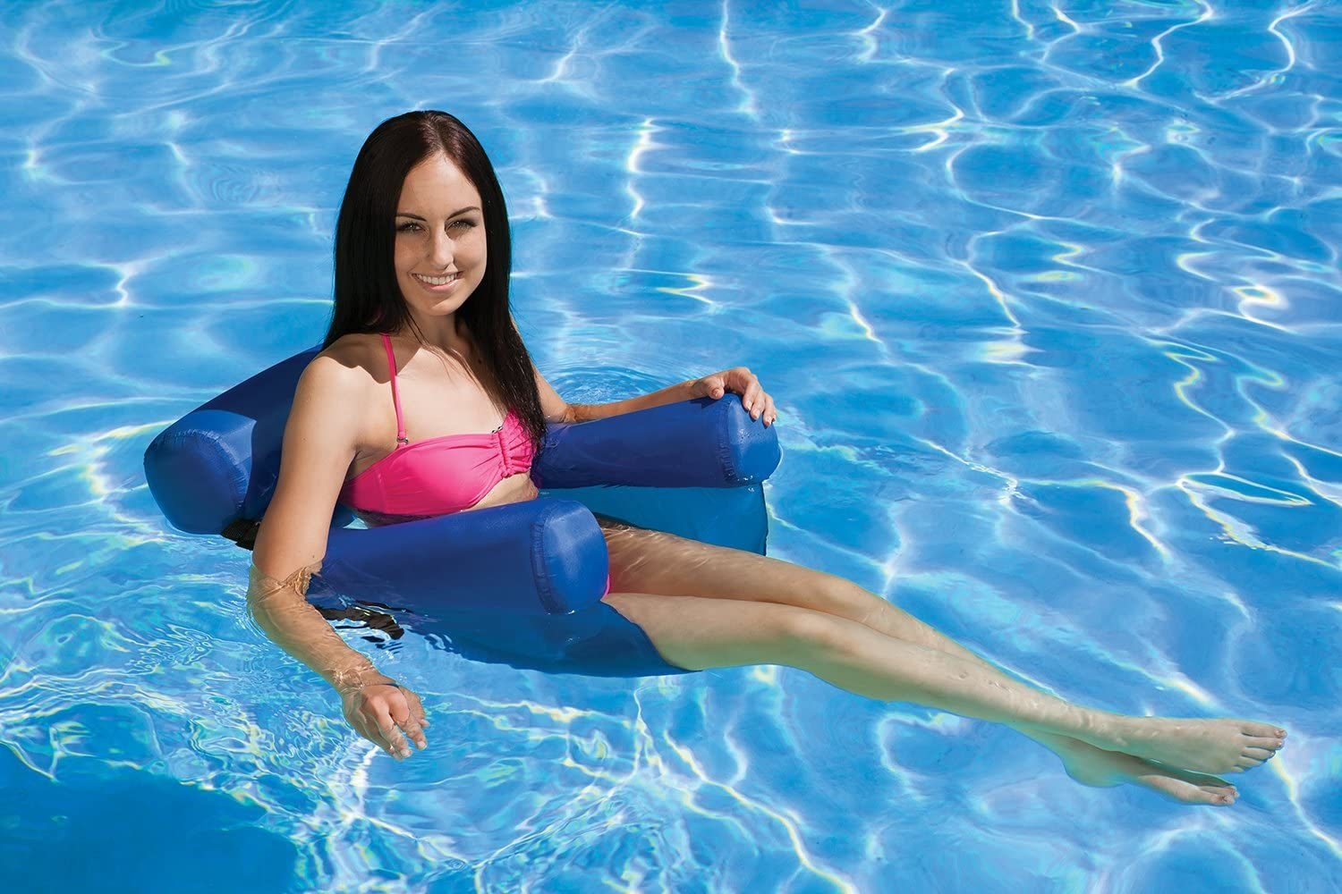 Swimming Pool Water Lounger Chair Foldable Floating Sofa Bed Hammock
