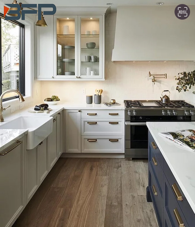 European Style Solid Wood White Color, What White Color For Kitchen Cabinets
