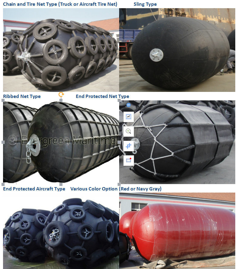 Floating Pneumatic Rubber Fender with Chain and Tyre Net