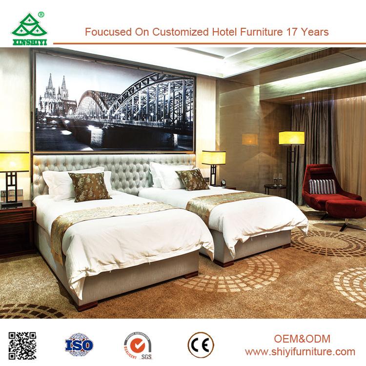 Moderne Festes Holz Hotel Schlafzimmer Set Luxuxmöbel