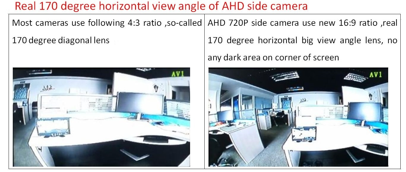 HD 720p 7inch LCD Monitor Rear View Camera System - China