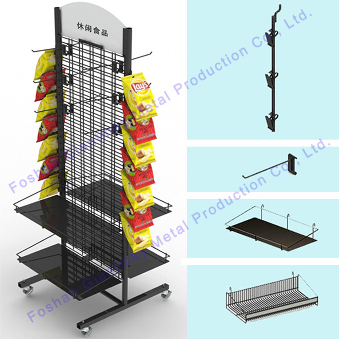 Wholesale Metal Wire Grid Mesh Panel Display Stand on Wheels - China ...