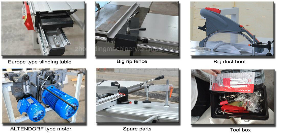 3200mm Altendorf Structure Electric Lift Woodworking Sliding Table Panel Saw