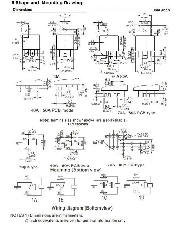 Wlvf Mini Maat Automotive Relay Kostuum Voor Automation System