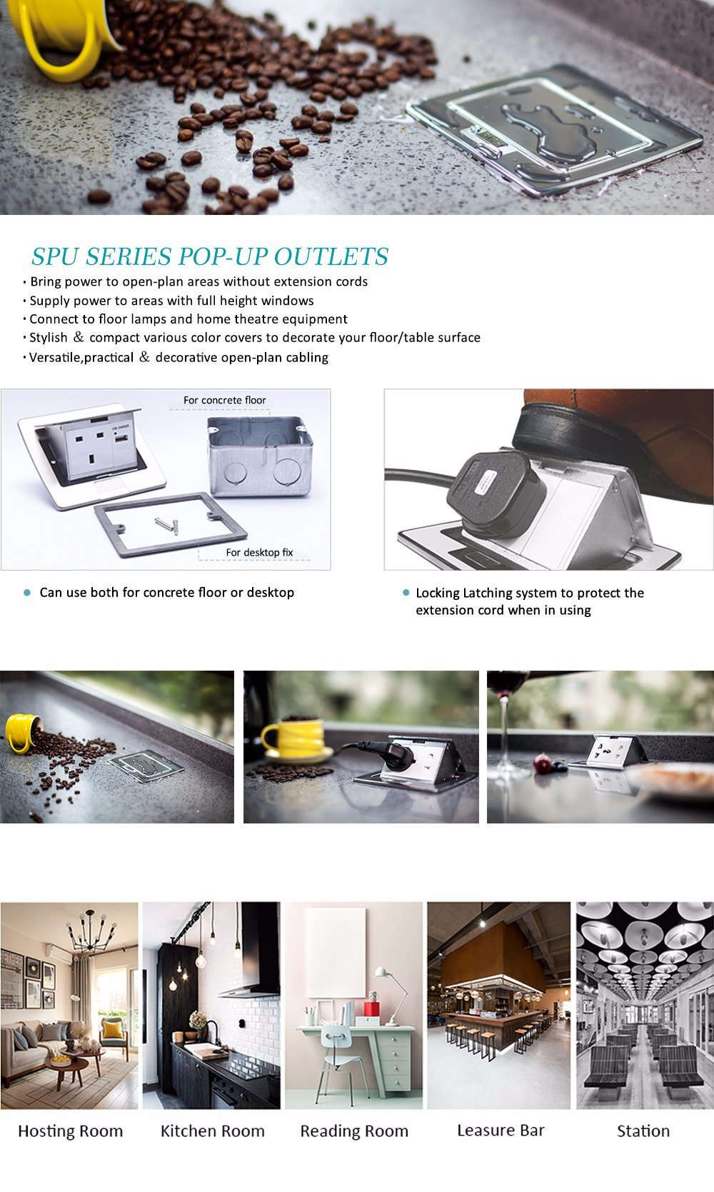 IP 9 Kitchen Table Box/Floor Boxes/Floor Outlet Boxes/Floor ...
