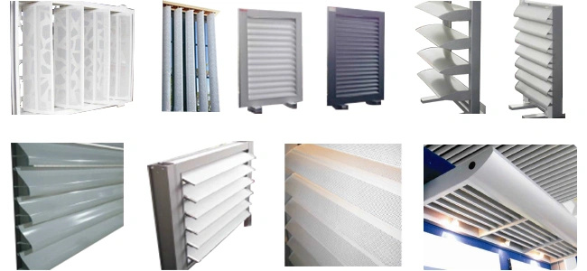 Exterior Wooden Color Sun Louver and Shutter Rolling Gate