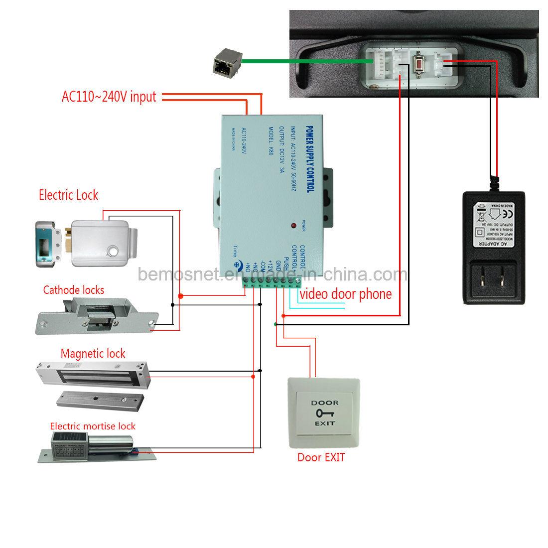 Wireless WiFi Video Door Phone Doorbell with Two-Way Intercom System ...