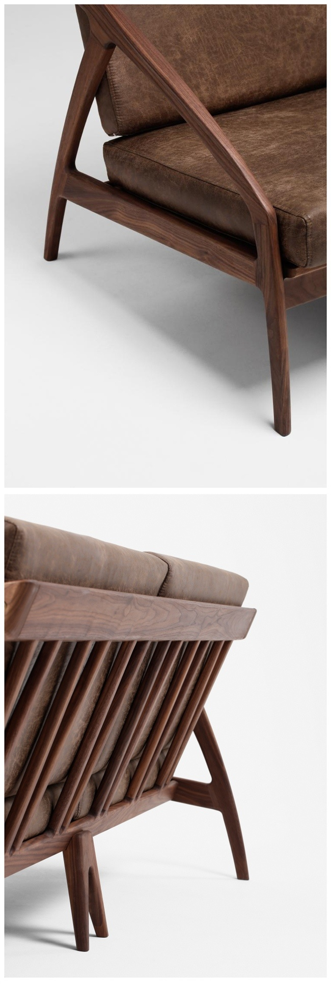 Chambre à coucher mobilier moderne en bois de hêtre