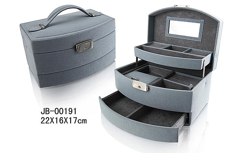45d63a62591b El lujo de cuero de joyero Joyero Joyería Caja de almacenamiento ...
