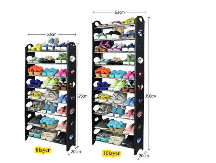 cr maill re en plastique tonnante organizer stand de chaussure d 39 tag re de 10 rang es pour. Black Bedroom Furniture Sets. Home Design Ideas