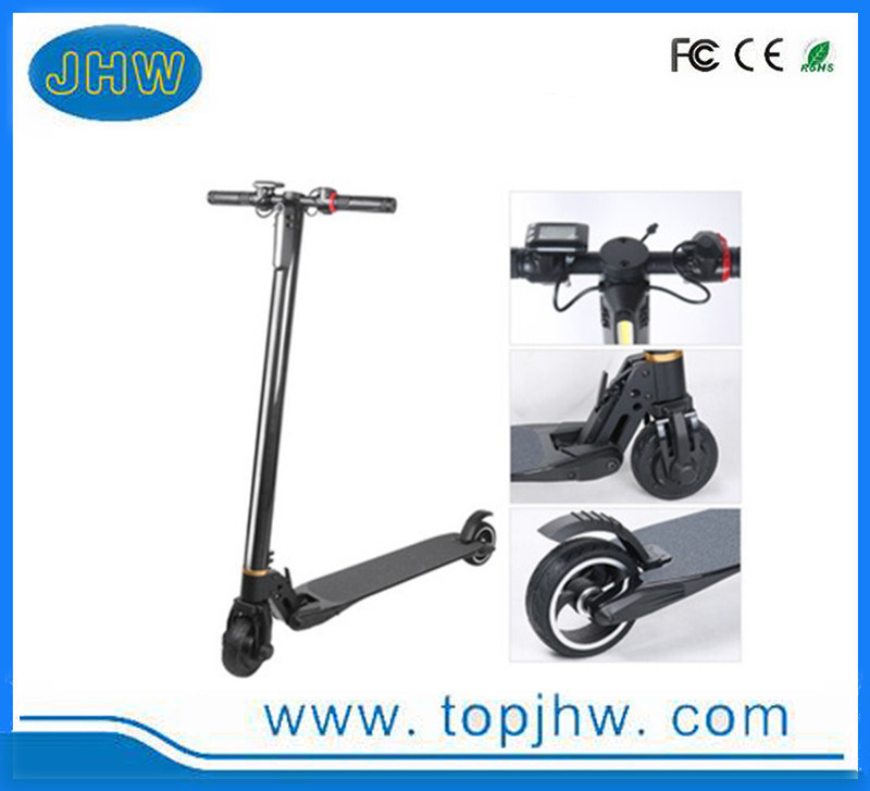 LED Light Foldable Electric Kick Scooter 2 Wheels E-Bicycle Aluminium Skateboard China Supplier with Cheap Price