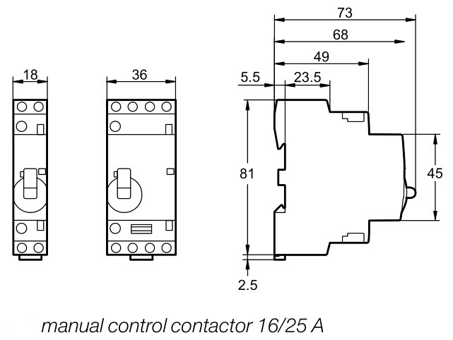 New on Consumption Manual 16A Household Contactor