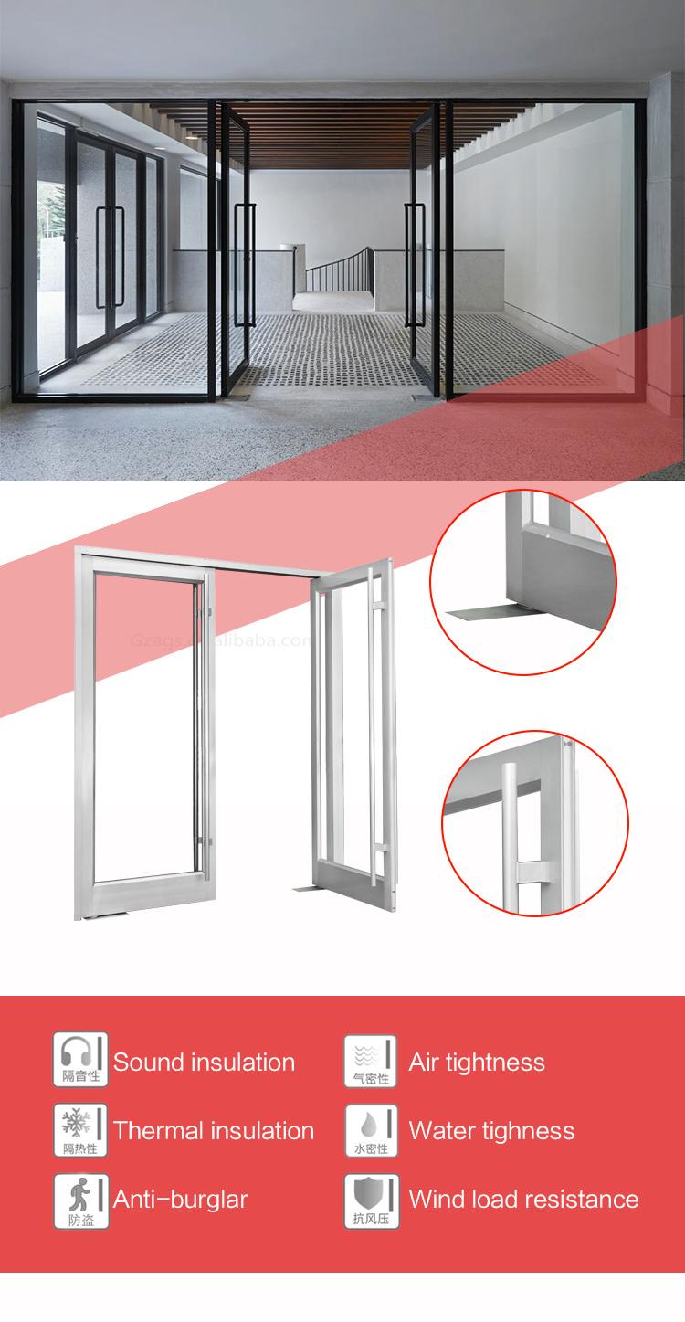 Puertas de cristal de aluminio del nuevo del diseño resorte al aire ...