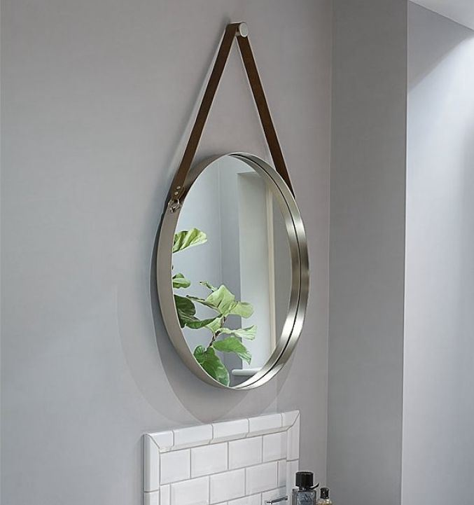 D 24 Decorative Hotel Desktop Metal Frame Diy Mirror With Leather Strap China Mirror Frame Mirror Made In China Com