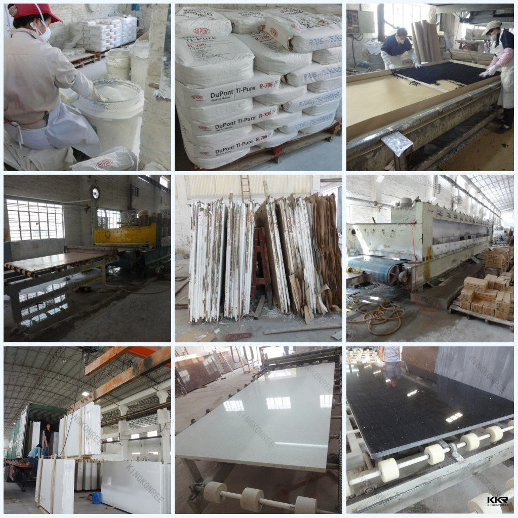 White Artificial Stone Quartz Slabs for Floor Tile