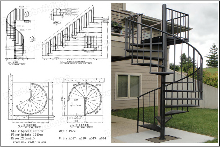 Similar Spiral Stairs Design Linked According Drawing