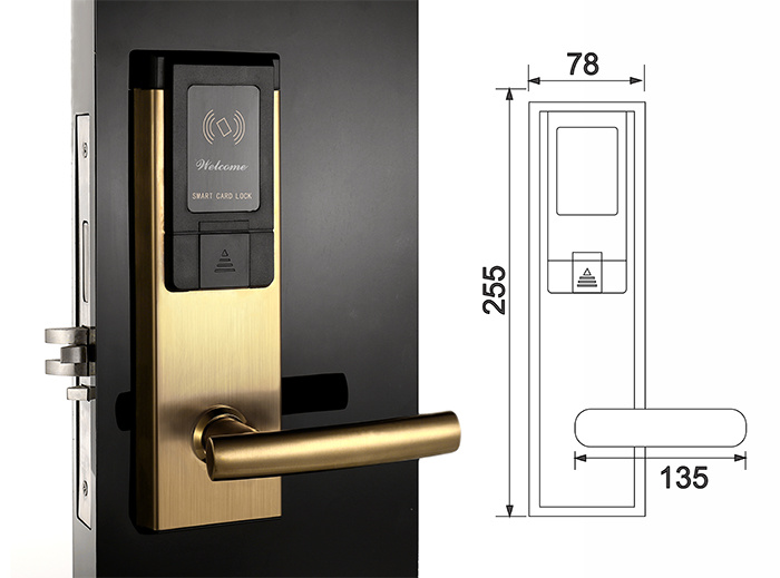 High Security RF Card Electronic Hotel Lock Smart Door Lock