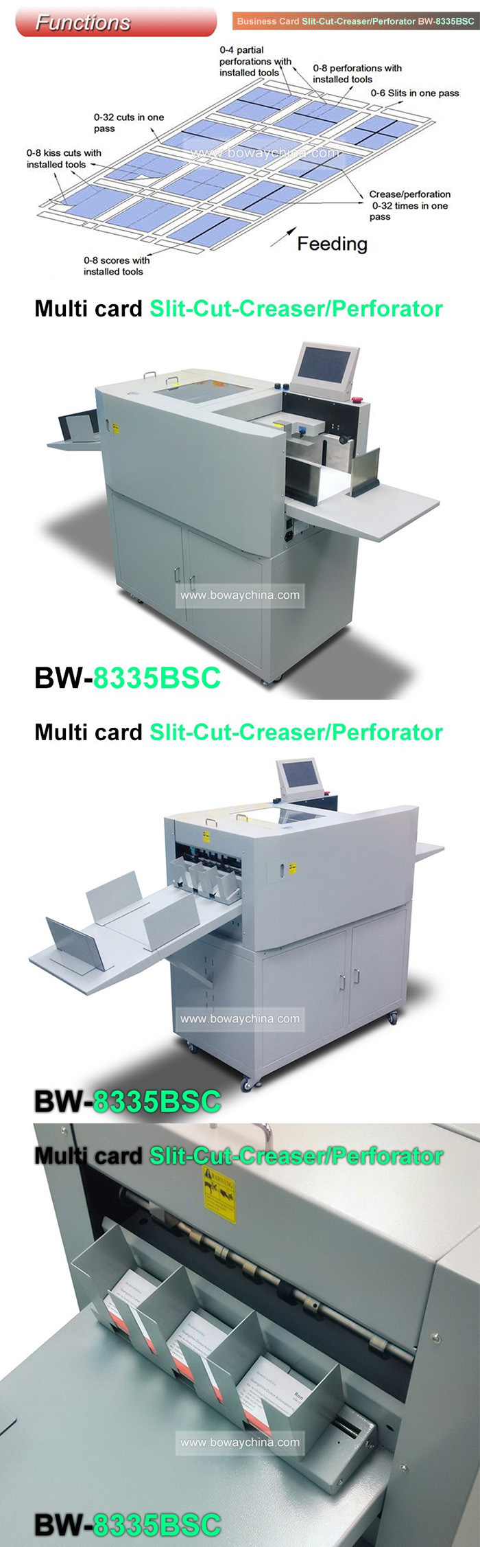 Boway A3 A4 Paper Automatic Slitter Cutter Creaser Perforator ...