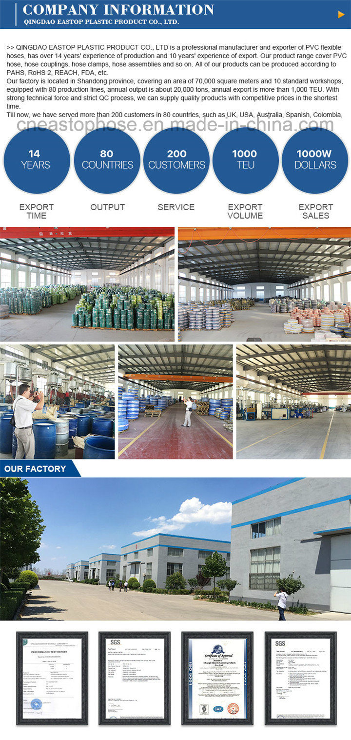 Eastop PVC Layflat Hose 12'' PVC Layflat Discharge Hose Supplier