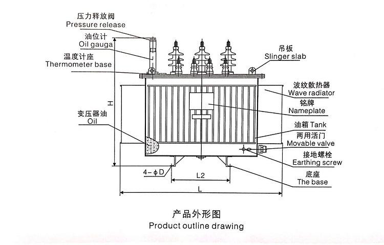 10/0.4kv 3 Phase Oil-Immersed 3D Core Distribution Transformer