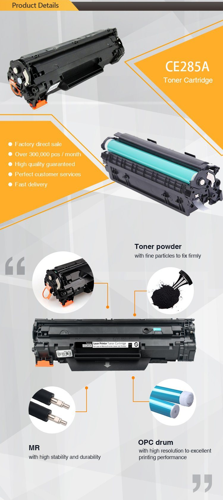 New Premium Ce285a 85a Compatible Toner Cartridge For Hp Laserjet Printer 1112 They Are The Property Of Their Respective Ownersand We Not Authorized To Sell Items Bearing Such Trademarks
