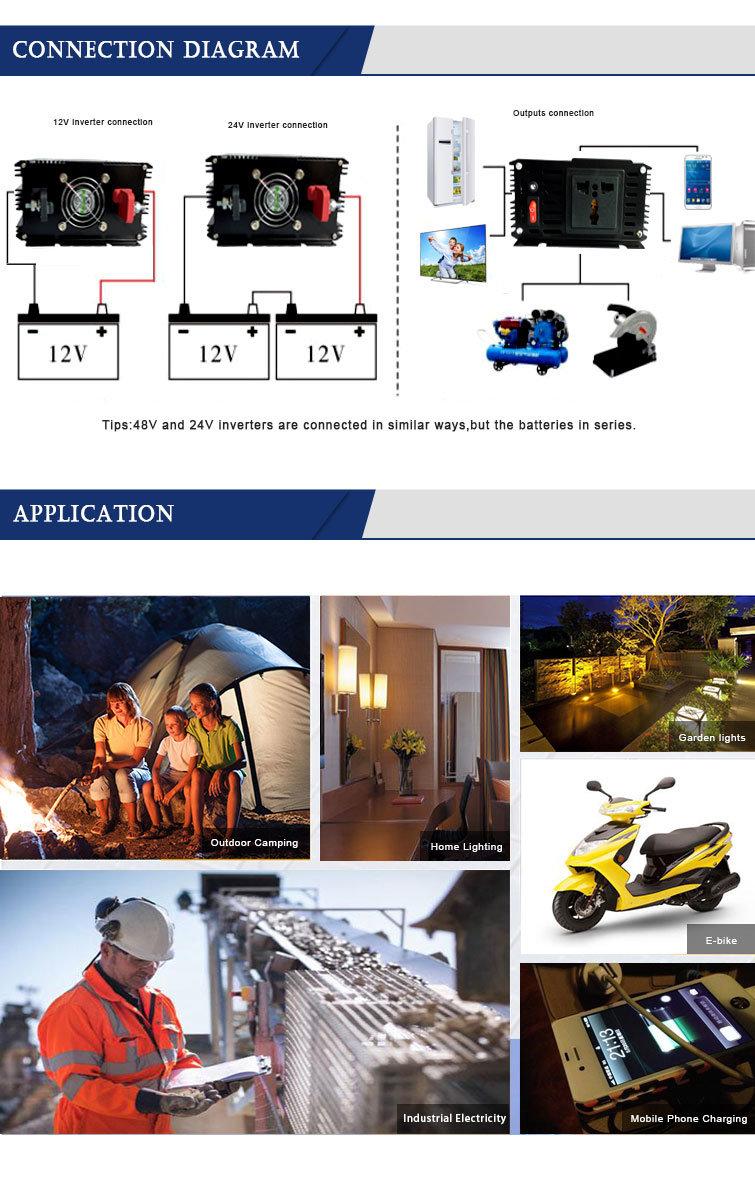 Dc To Ac Home 3000 Watt Solar Pump Power Inverter 3kw 12v 24v 48v Connection Diagram Customers Service