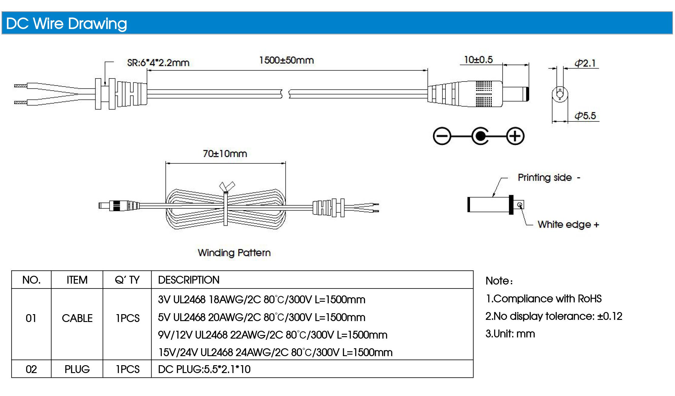 12w 3v 5v 9v 12v 15v 24v Wall Mounted Type Ac Dc Power Adapter