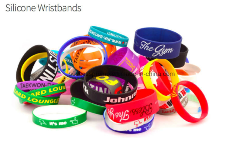 Cheap Custom Silicone Wristbands Segmented