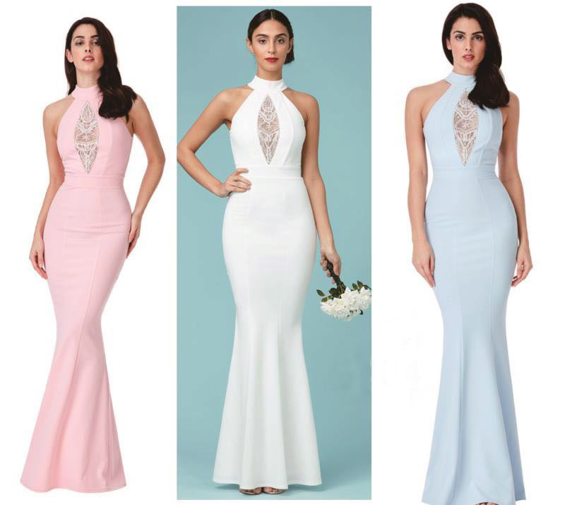 b581c99b90906 2018 Halter Luxury Elegant Evening Dress Beading Long Formal Dress ...
