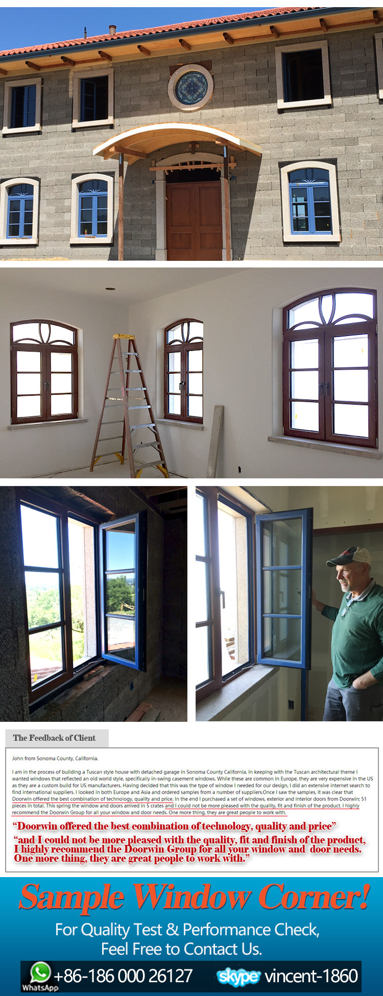 Truth Hardware French Casement Window With Oak Wood China