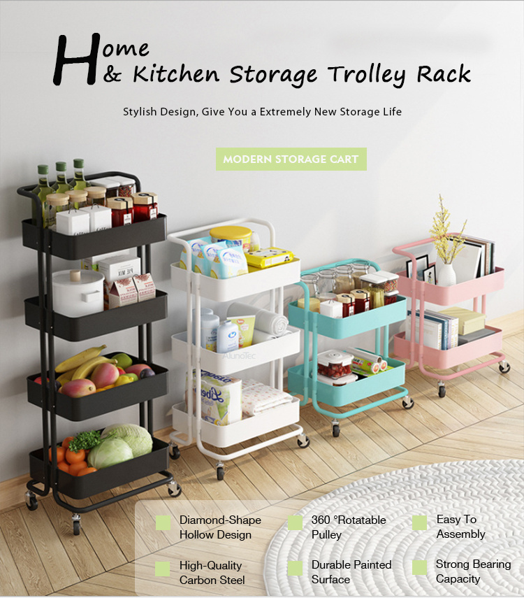 3 Tier Plastic Storage Baskets Kitchen Slim Rack Slide Out Shelf Rolling Cart China Rolling Cart Trolley Cart Made In China Com