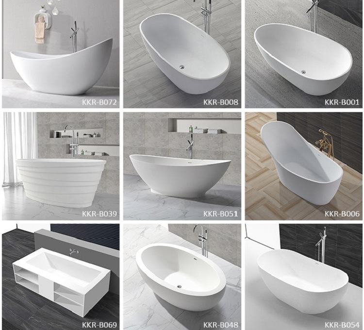 Bathroom Furniture Solid Stone Corner Massage Bathtubs (BT180515 ...