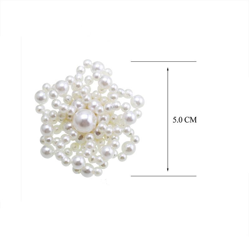 c3e95f9d0 2018 Elegant Imitation Pearl Big Flower Shape Ear Stud Earrings For Women  Party Girls