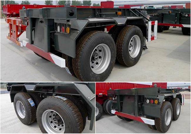 3車軸20FT 40FT骨組容器のトレーラーフレーム