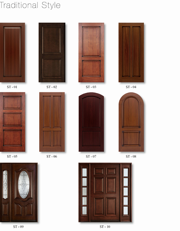 contemporary modern style exterior solid wooden front door design rh m made in china com modern 1930 style front door modern farmhouse style front door