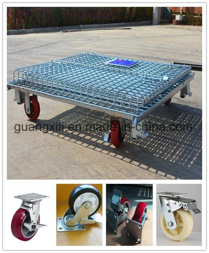 1000kg Loading Capacity Warehouse Wire Mesh Roll Cage - China ...