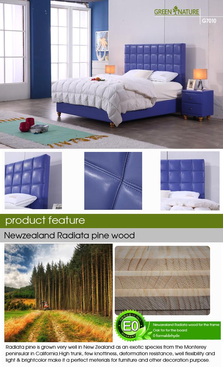 La moderna plataforma de cama tapizados de cuero para el hogar y ...