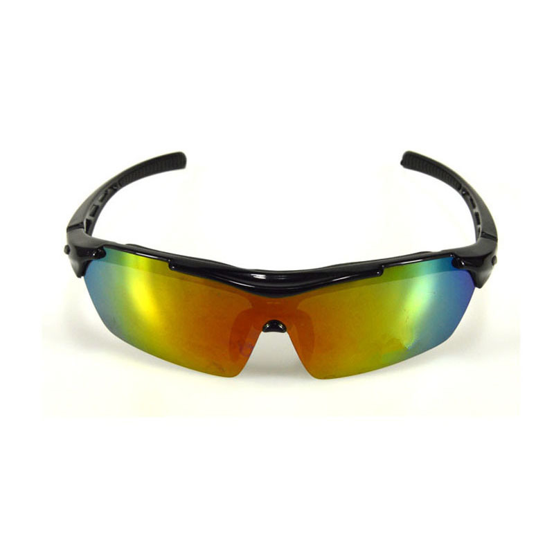 Hot Selling OEM Comfortable Wraparound 5 Interchangeable Lenses Outdo Cycling Basketball Sport Sun Glasses with Strap