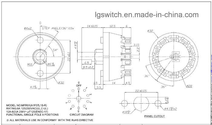 4 Position Rotary Switch Wiring | Wiring Diagram on single pole contactor wiring diagram, light switch and outlet wiring diagram, gfci circuit breaker wiring diagram, 240 volt baseboard heater wiring diagram,