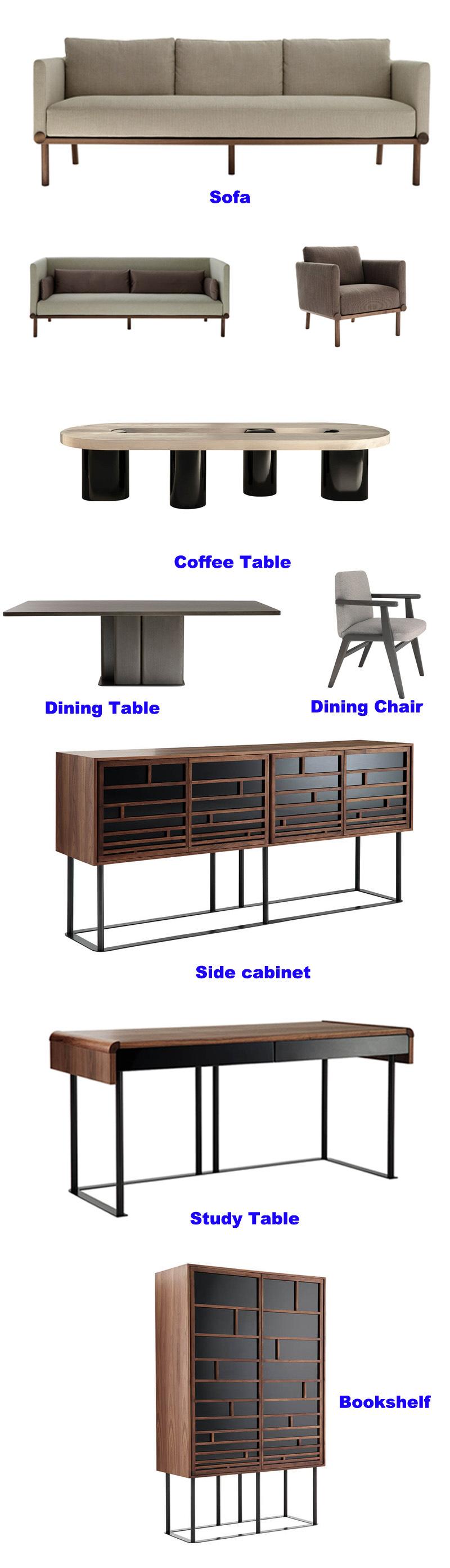 Nuevo diseño de madera maciza mesa de café en Muebles de Salón (HC ...