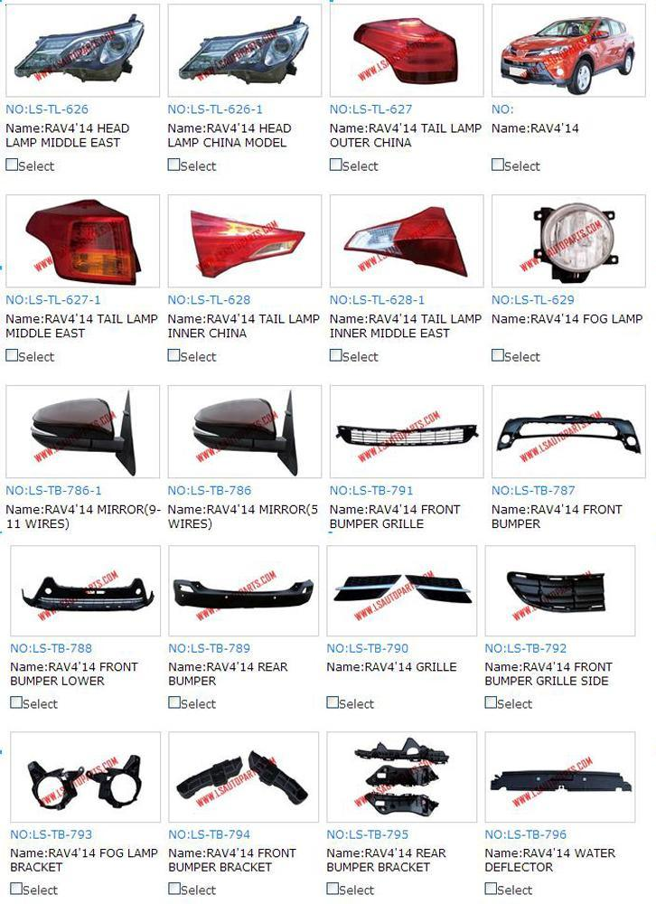 Auto Spare Parts/Car Replacement Parts/Body Parts for Toyota RAV4 ...