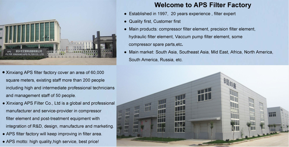 High Quality Paper Media Replacement Compressor Air Filter (AF347M)