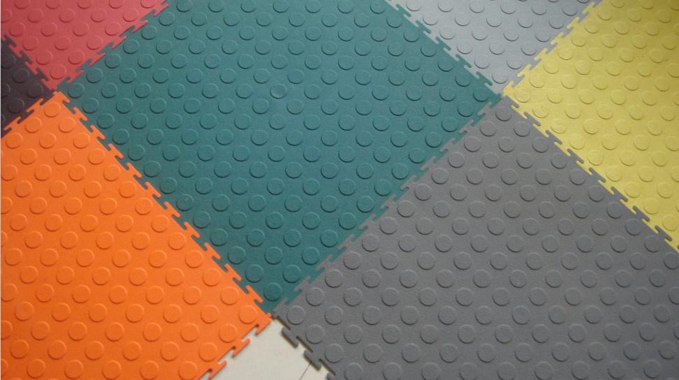 Garage Flooring Car Floor Mat Plastic Rubber Coin Flooring Tiles