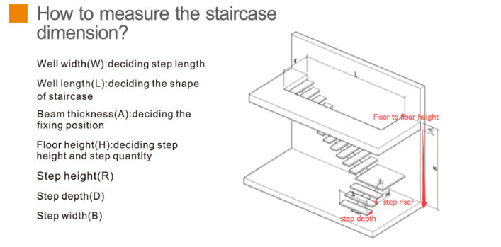 Modern Helical Staircase with Glass Treads, Wood Curved Stairs Price