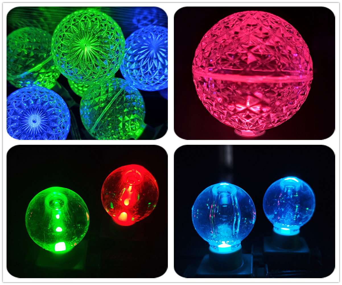 Waterproof 20mm RGB Full Color LED Pixel Lights String for Christmas Holiday Decoration