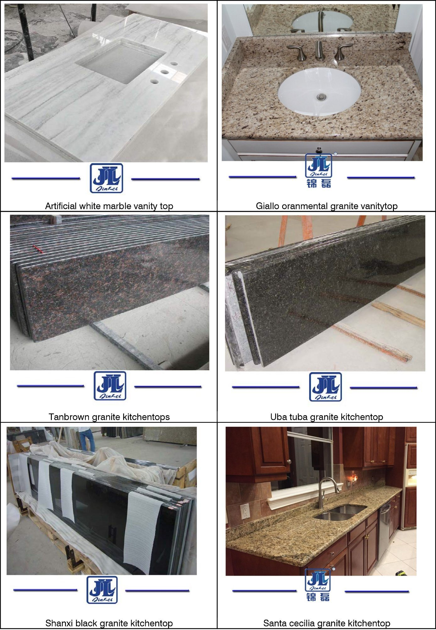 Hot Sale Natural Stone Marble Vanity Top for Hotel Bathroom